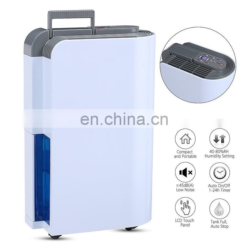 OL10-011E Compact and Portable dehumidifier for Damp Air Mold Moisture in Home Kitchen Bedroom Basement Caravan Office Garage