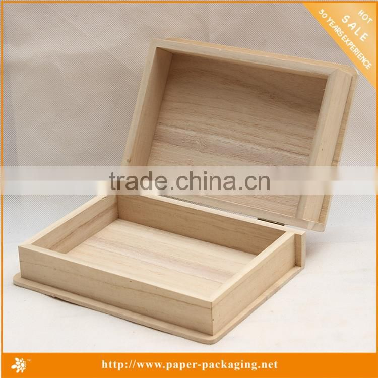Accepting Custom Order Small Hinges Unfinished Wooden Storage Boxes