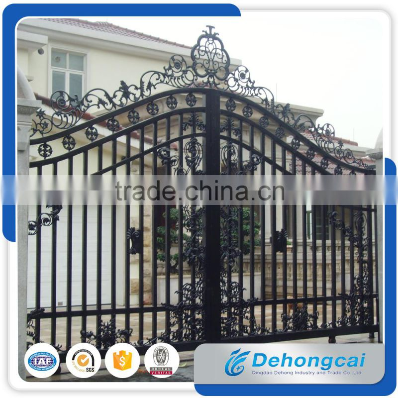 Manufacturer 2016 simple modern steel gate design for Modern house gate designs philippines
