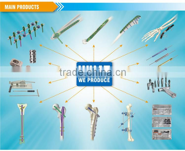 Small MOQ request Multi direction fix nail nailing system orthopaedic instruments