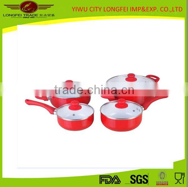 4pcs Aluminum With Cover Saucepan And Casserole Set