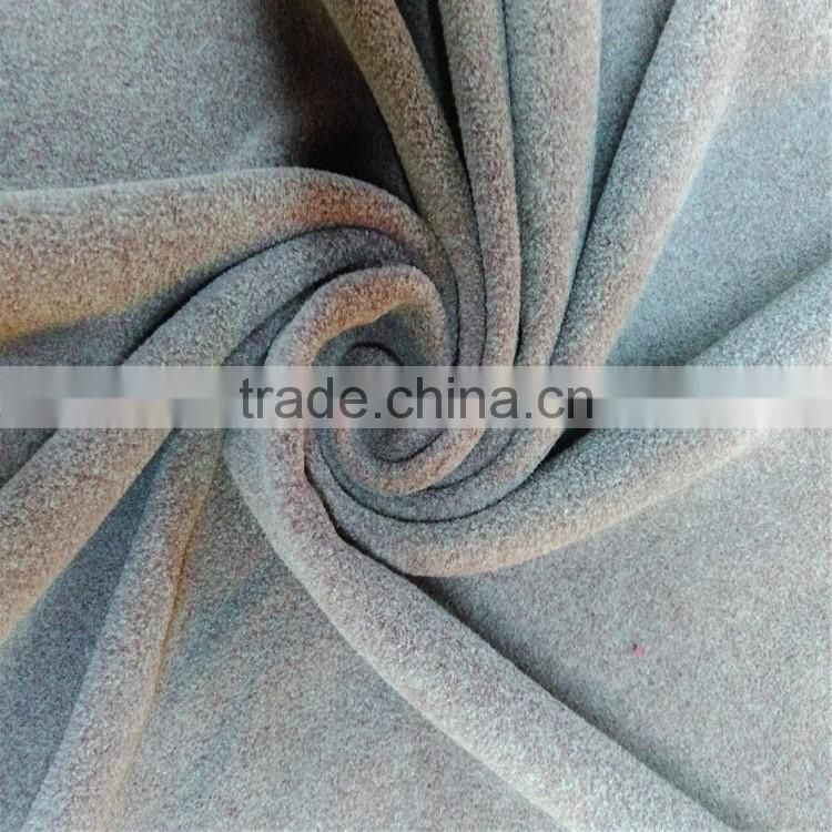 100% polyester polar fleece solid dyed fabric for nightgown,hats,gloves,robe,micro polar fleece