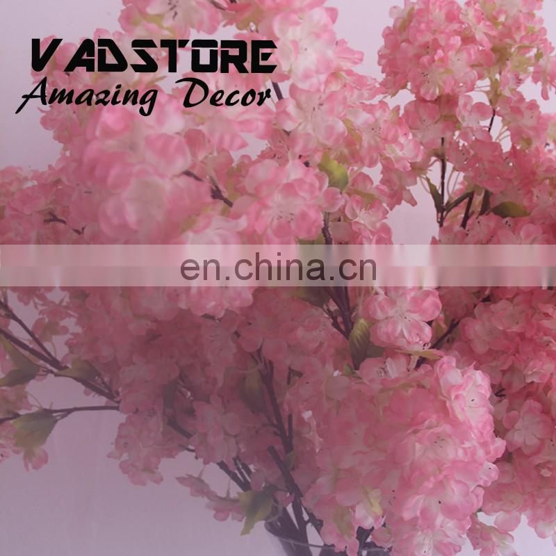 Artificial pink blossom branch artificial flower wedding table centerpiece