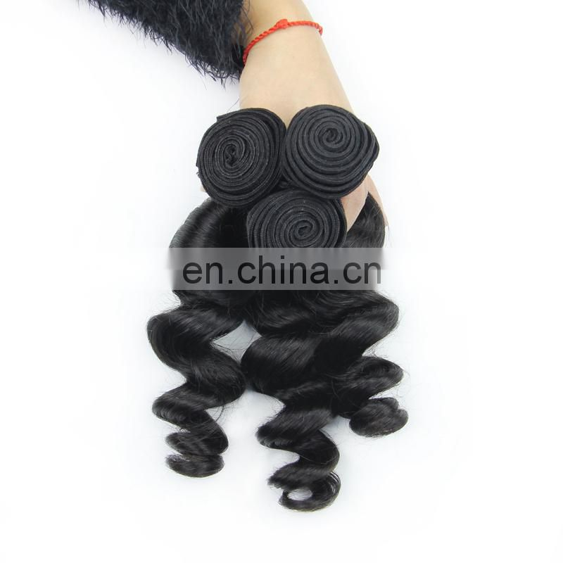 Youth Beauty Hair 2017 Best saling wholesale price Brazilian 8A grade loose wave virgin human hair weaving natural color
