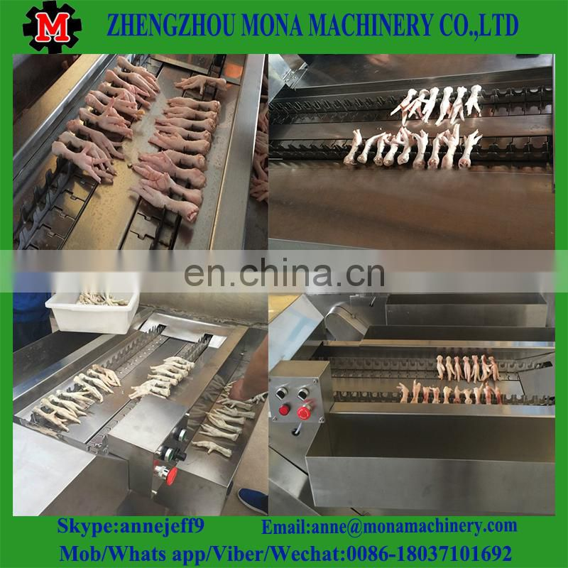 High speed commercial frozen chicken feet cutting machine with best price Image