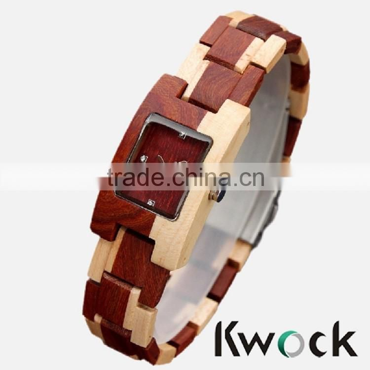 The most novel fancy bracelet wooden watch,fashion bracelet watch wholesale price 2016
