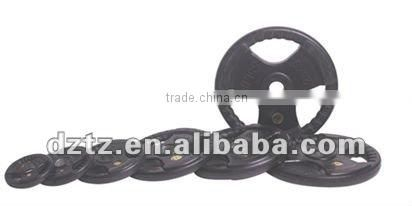 3 Holes Black Rubber Weight Plate/Olympic Plate (TZ-3007)
