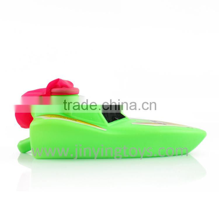 Balloon powered plastic toy small ship funny design