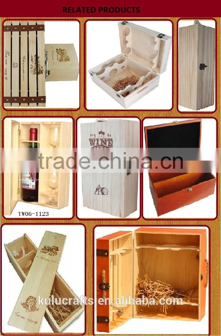 factory price natural wood unfinished wooden gift packing box for bath set ,wooden gift packing box