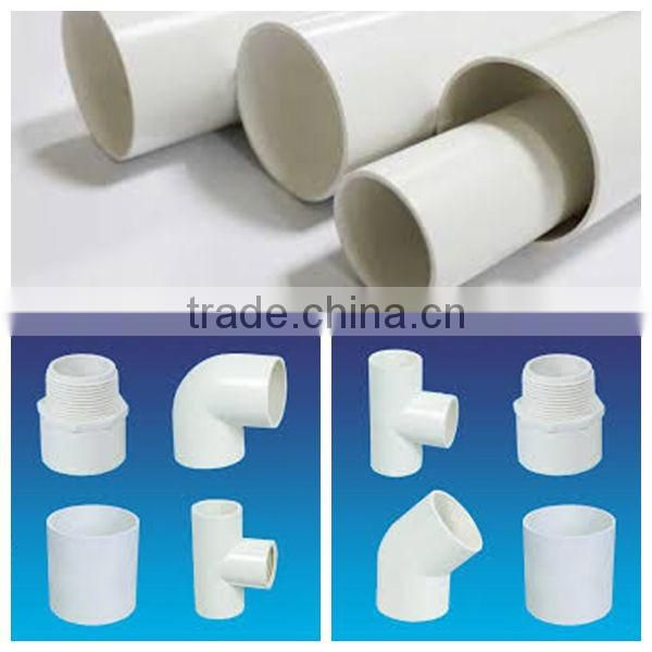 Popular fittings for square pvc pipes of PVC pipe from China