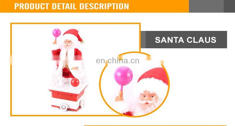 B/O Christmas playing basketball mobile santa claus