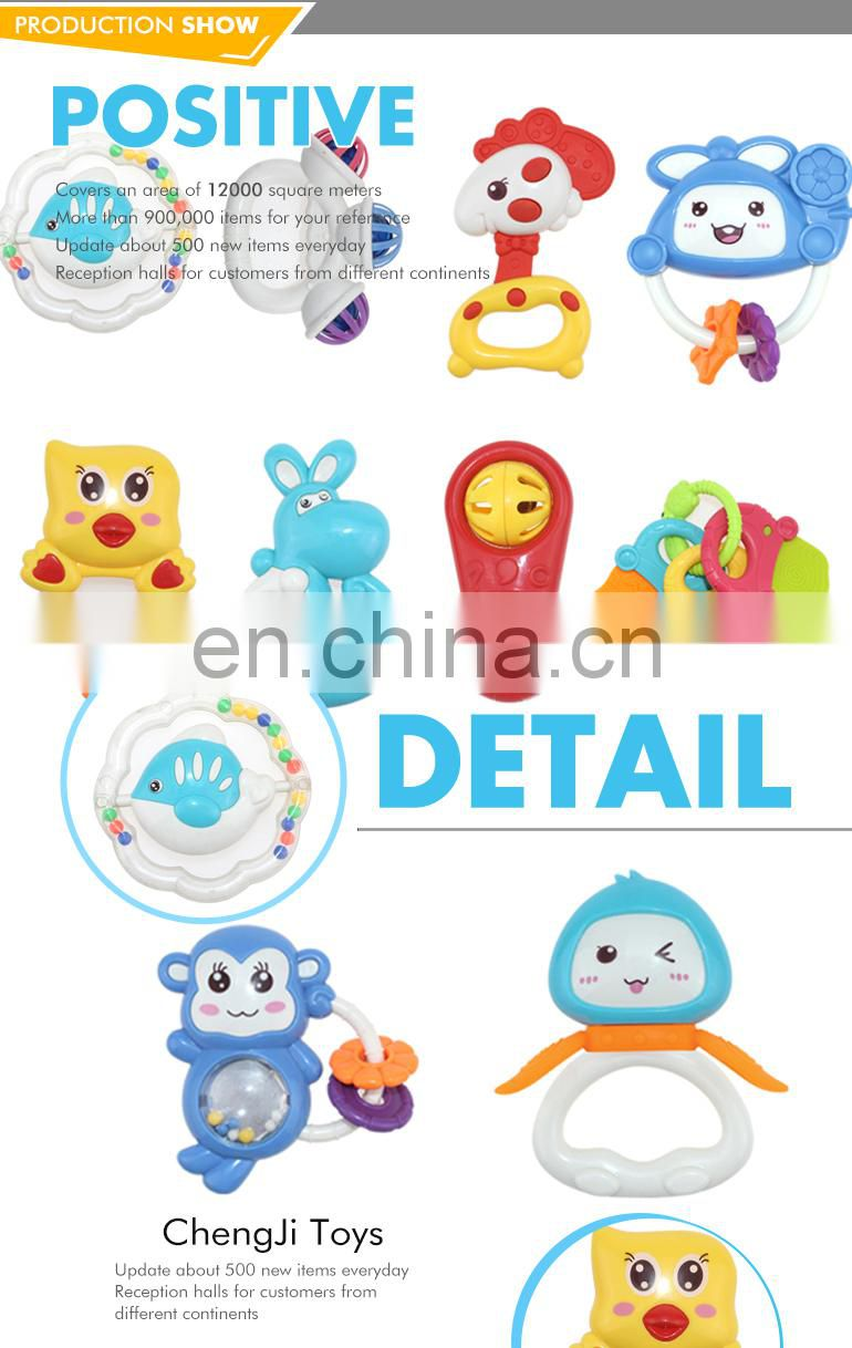 Safety ABS material musical toys plastic baby wrist rattle
