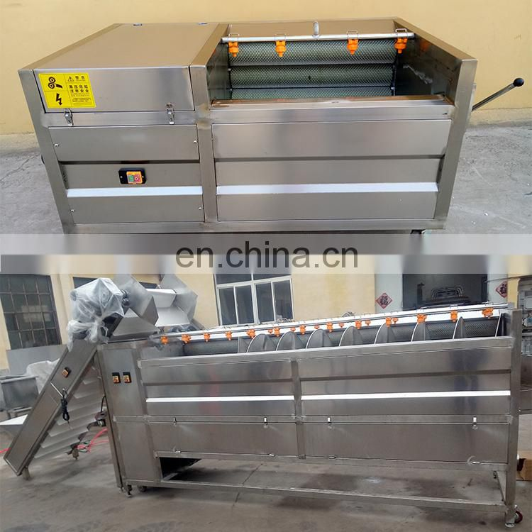 chinese potato peeler cleaning fish machine potato washing and peeling machine