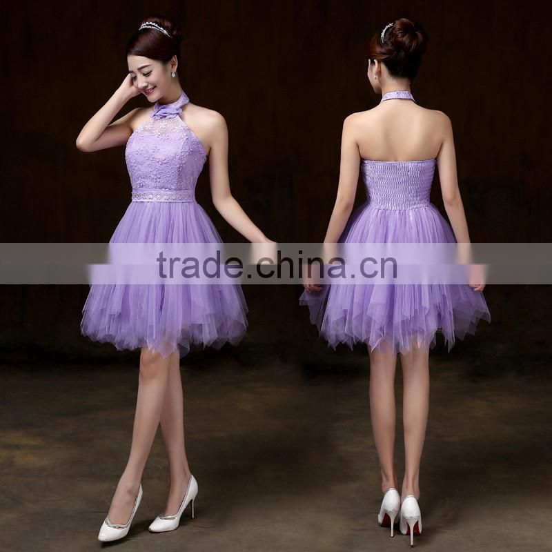 Champagne Violet White Sky Blue Purple Pink Bridesmaid Dresses Sexy Short Girl Prom Gowns Women Party Dress Princess Ball Dress