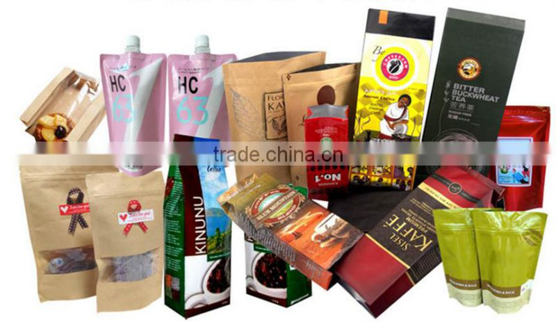 Printing Label Powder Air Valve Ground Coffee Packing Pouch Side
