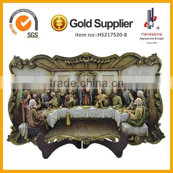 Resin sculpture best selling 3D last supper in hand deco for home decoration souvenir