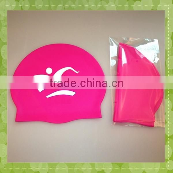 Most Popular Promotional Custom pink Swimming Cap Silicone