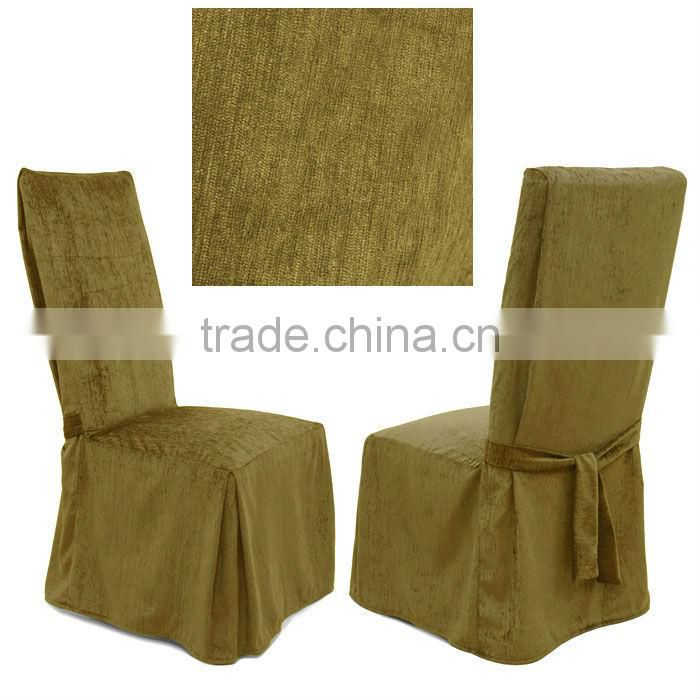 chenille onyx dining chair cover