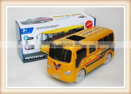 plastic electric musical flashing bo yellow toy school bus airport passenger bus