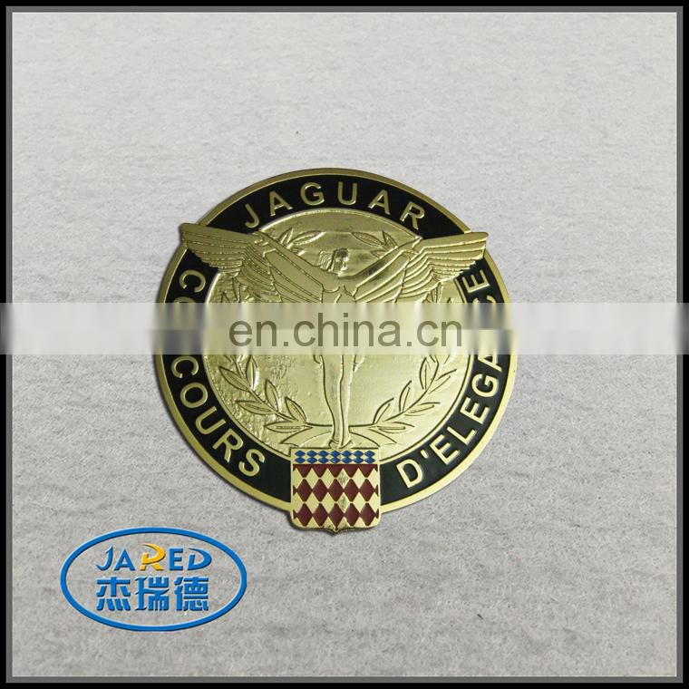 High quality imitation club use metal badges for cars