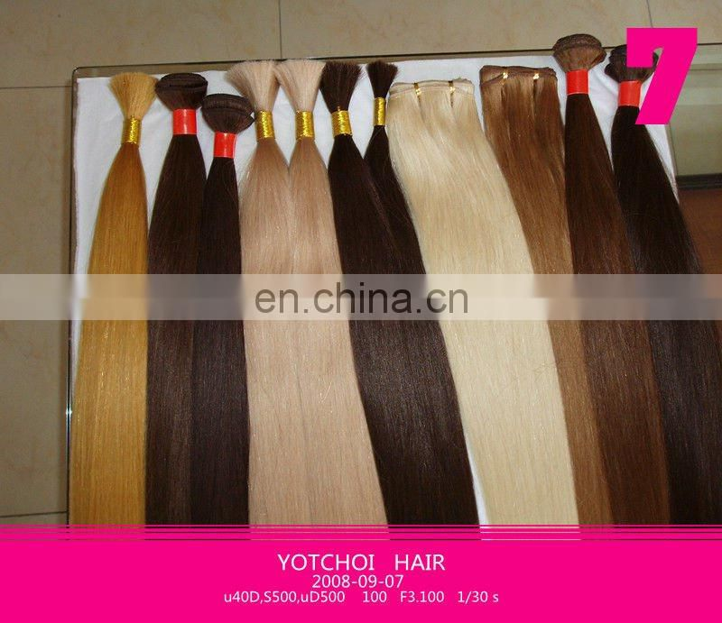 2013 hot sale factory cheap price full cuticle 100% remy human pre bonded U tip hair extensions