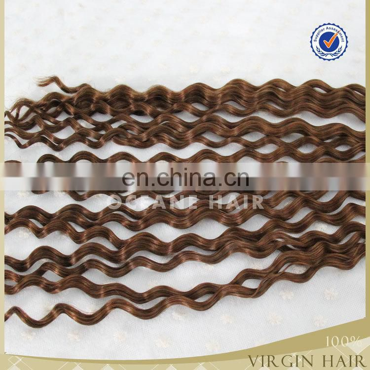garde 6a china brazilian hair curly hair extension V-tip blonde afr curly