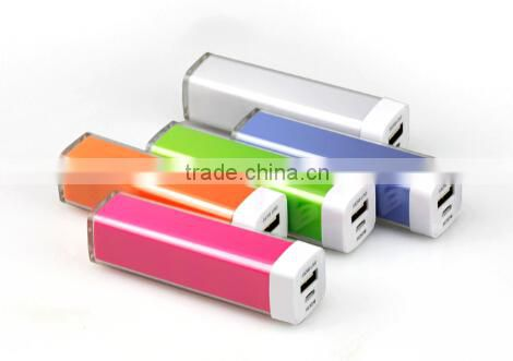 2015 Gadget Colorful Mobile Phone Portable Charger Lipstick 2200mah Power Bank