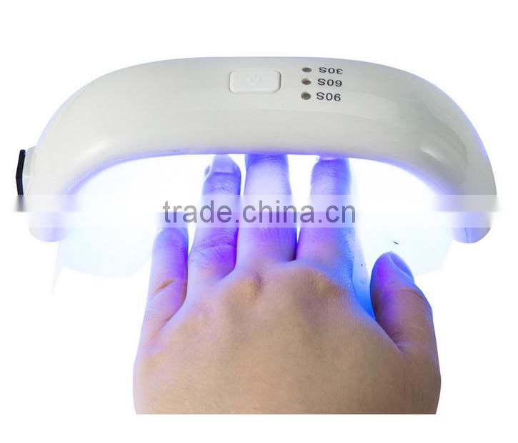 Professional 9W 100 - 240V LED Light Lamp Gel Nail Polish Nail Dryer Led Rainbow UV Lamp For Nail Art Tools