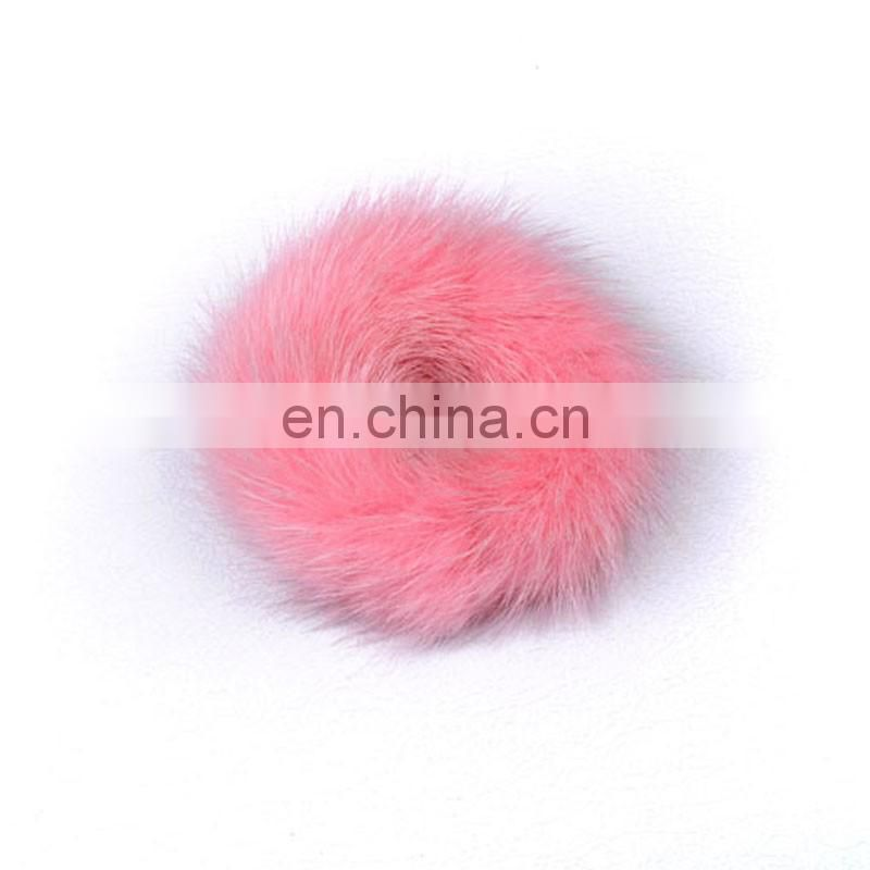 Hand made mink fur hariband girl fashion fur accessory for hair decoration