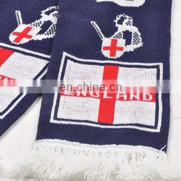 Jacquard Knit Scarf Custom Soccer Scarf Football Scarf Knitting