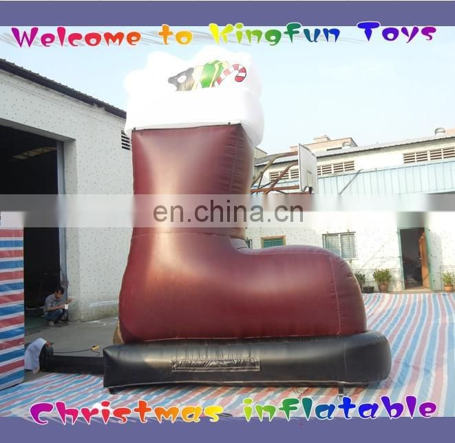2015 New year inflatable Santa Claus with carriage