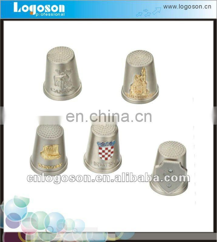 gold embossed eagle metal thimble souvenirs
