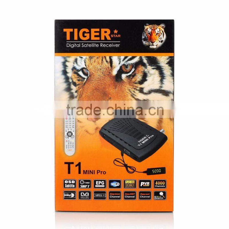New Digital Satellite Receiver Tiger T1pro Set Top Box of