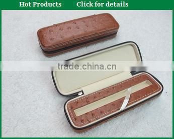 Handmade manufacture PU leather pen box for business