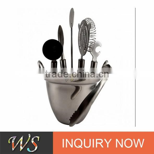 2017 famous high quality and popular cocktail shaker spoon set
