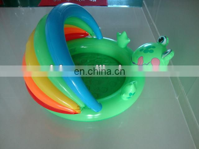 Inflatable Frog Pool with Sunshade