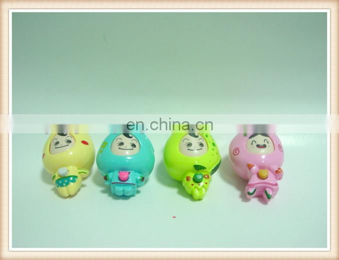 plastic mini cartoon key chain face changing fruit doll