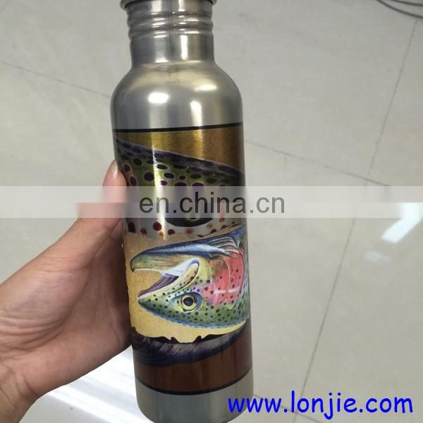 Whiskey bottle double head 8 color uv printing machine