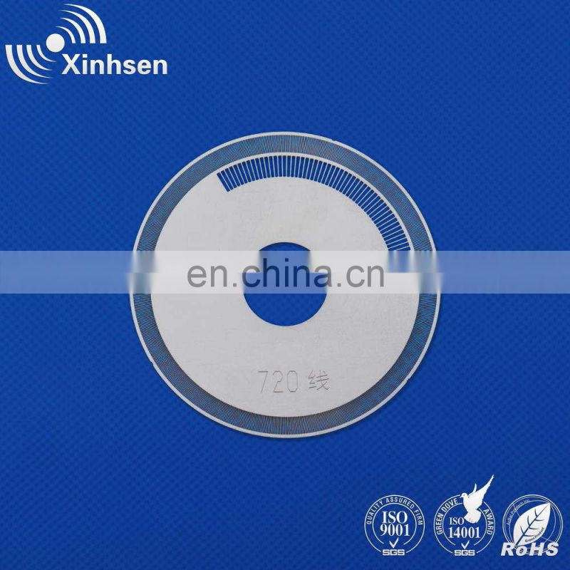 Acid etching metal for encoder wheel