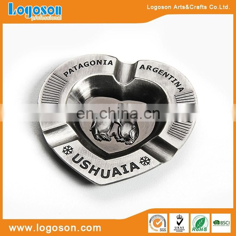 High Quality Antique Brass Custom Metal Heart Shaped Ashtray