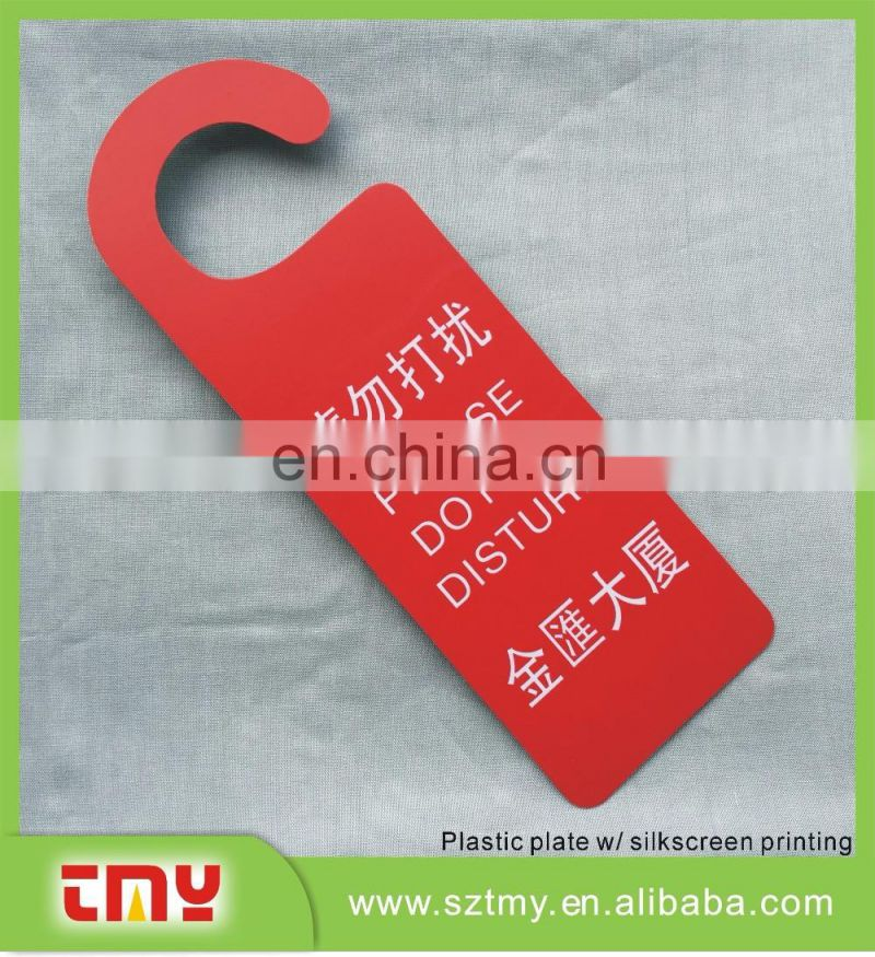 Eco-friendly hotel room door pvc hangers