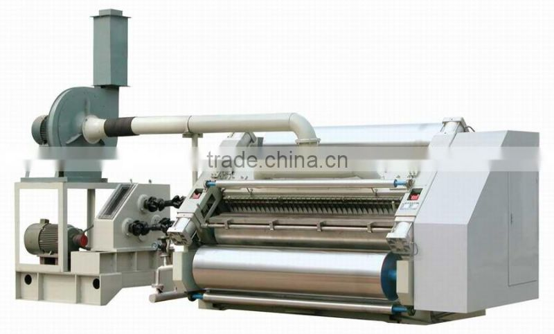 High efficiency carton box machinery corrugated single facer & mill roll stand & paper cutting machine