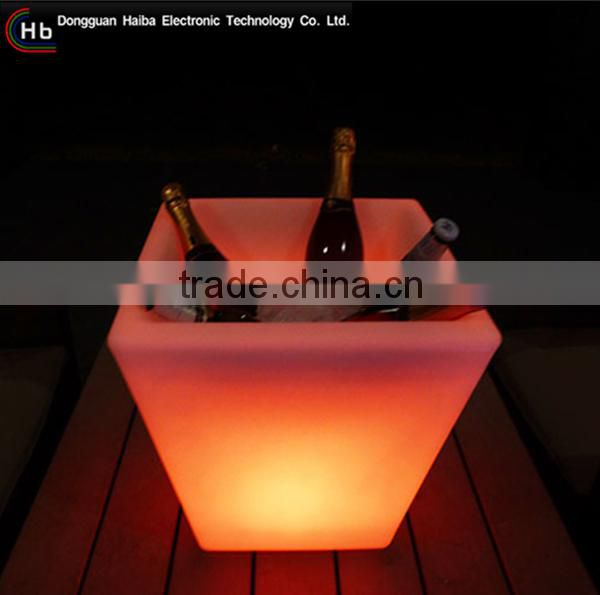 color changing LED lighting beer cooler modern belaire rose champagne ice bucket made in China