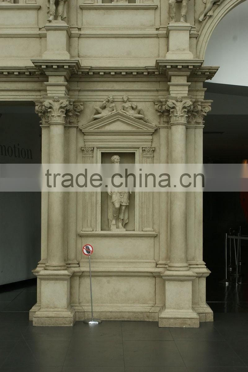 luxury castle design natural stone temple door decorative stone pillar