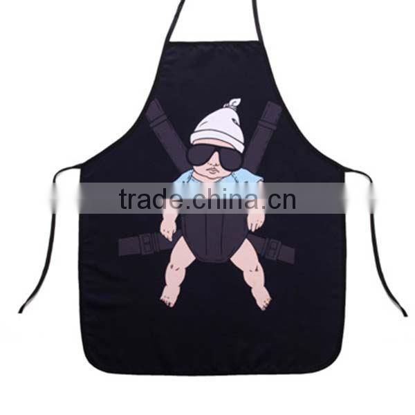China manufacturer OEM fashion design funny kids cool baby aprons