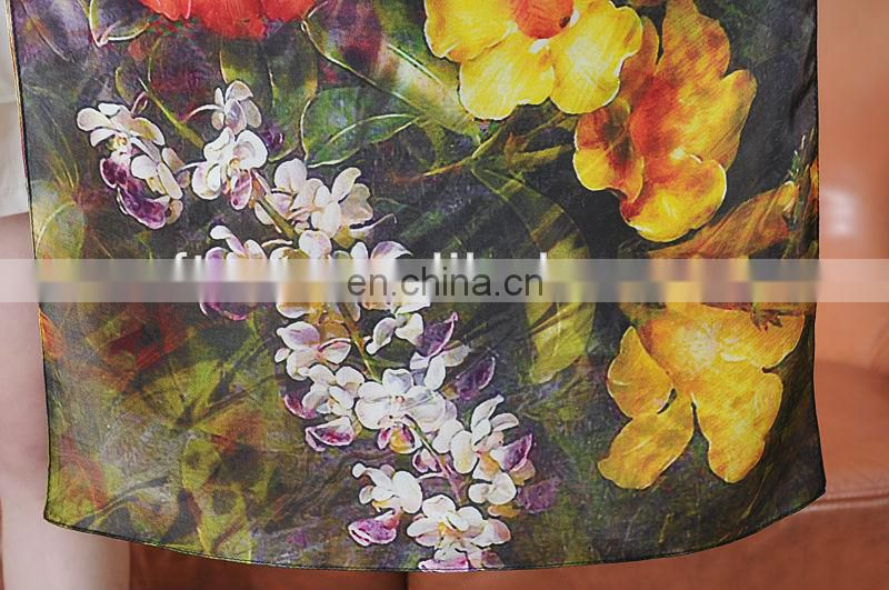 Wholesale Digital Printed Silk Women Scarf