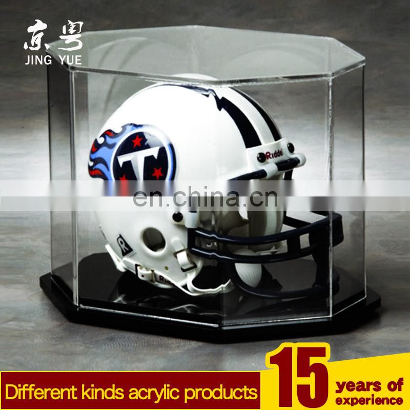 Fashion clear PMMA baseball hat case plexiglass baseball hat display case acrylic baseball hat display case