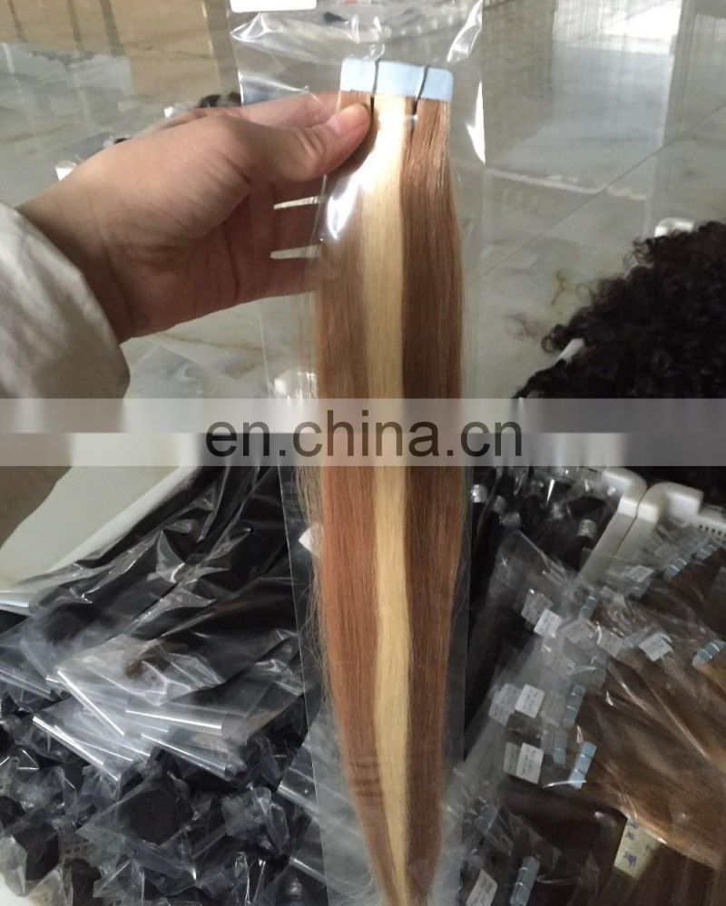 Factory price new arrival 100% european hair tape hair extension,tape hair extensions machine