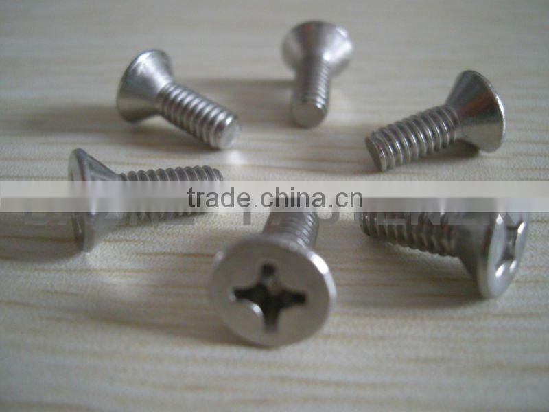 Offer high quality phillips countersunk head machine screws