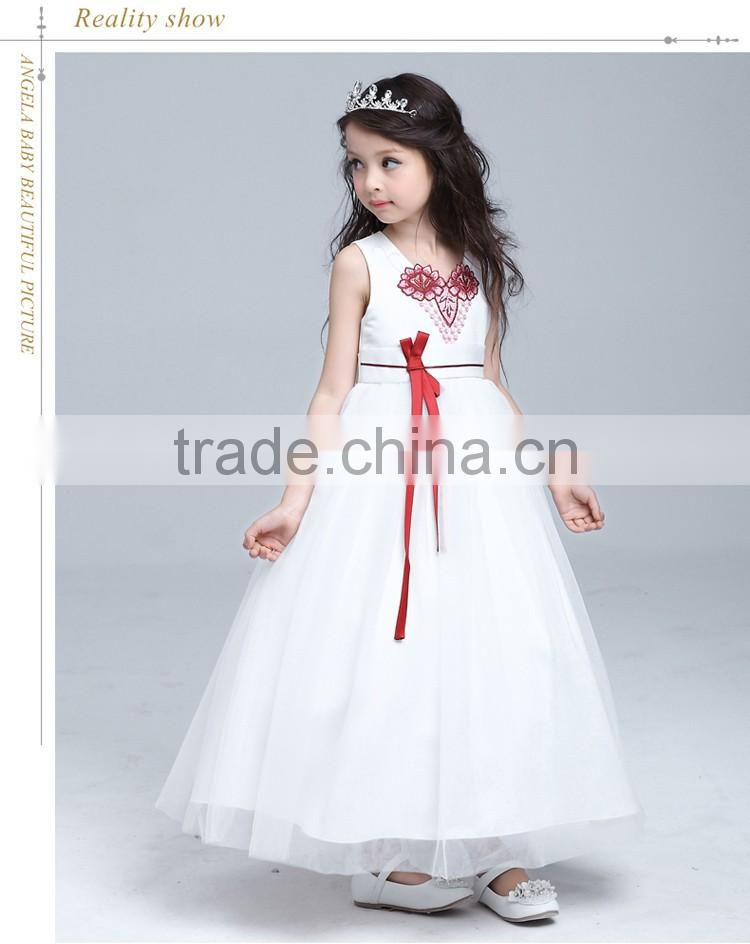 e886ee88f ... 2017 Girls Dress Up Games Names With Pictures Ivory Jacquard Bodice  With Tulle Skirt Removable Sashes